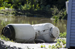 Flood Damage Northfield Vermont : Hurricane Irene Stock Photography