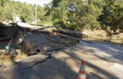 Flood Damage Northfield Vermont : Hurricane Irene Royalty Free Stock Photography