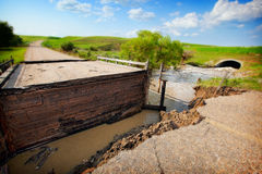 Flood Damaged Road Stock Photos