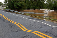 Flood Damaged Roadway Stock Photos