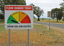 A Flood Danger Today sign Royalty Free Stock Image