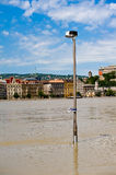 Flood of the Danube Royalty Free Stock Photo