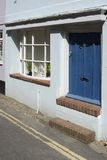 Flood defence doorway on house. England Stock Photos