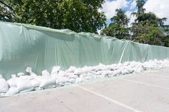 Flood defenses wall Stock Image