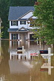 Flood Disaster. Rains flooding subdivision Austell Ga royalty free stock photo
