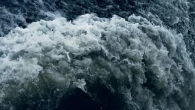 Flood discharge,torrential waterfall running,china yellow river. stock footage
