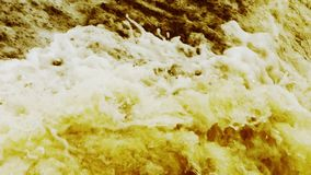 Flood discharge,torrential waterfall running,china yellow river. stock video