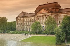 Flood in Dresden Stock Images