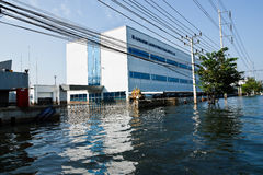 Flood factory in Nava Nakorn Industrial thailand. Bangkok, Thailand - November 25: The plant in Nava Nakorn Industrial area was flooded for 1 month - November 25 Royalty Free Stock Photos