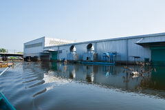 Flood factory in Nava Nakorn Industrial thailand Stock Images