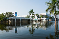 Flood factory in Nava Nakorn Industrial thailand. Bangkok, Thailand - November 25: The plant in Nava Nakorn Industrial area was flooded for 1 month - November 25 Stock Image