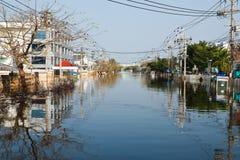 Flood factory in Nava Nakorn Industrial thailand. Bangkok, Thailand - November 25: The plant in Nava Nakorn Industrial area was flooded for 1 month - November 25 Stock Photos