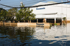 Flood factory in Nava Nakorn Industrial thailand. Bangkok, Thailand - November 25: The plant in Nava Nakorn Industrial area was flooded for 1 month - November 25 royalty free stock photography