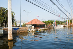 Flood factory in Nava Nakorn Industrial thailand Stock Image