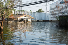 Flood factory in Nava Nakorn Industrial thailand. Bangkok, Thailand - November 25: The plant in Nava Nakorn Industrial area was flooded for 1 month - November 25 Royalty Free Stock Photo