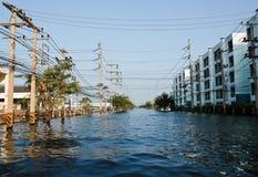 Flood factory in Nava Nakorn Industrial thailand. Bangkok, Thailand - November 25: The plant in Nava Nakorn Industrial area was flooded for 1 month - November 25 Stock Photo