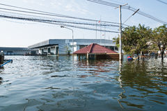Flood factory in Nava Nakorn Industrial thailand. Bangkok, Thailand - November 25: The plant in Nava Nakorn Industrial area was flooded for 1 month - November 25 Stock Photo