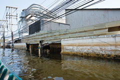 Flood factory in Nava Nakorn Industrial thailand Royalty Free Stock Photos