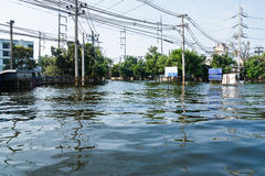 Flood factory in Nava Nakorn Industrial thailand. Bangkok, Thailand - November 25: The plant in Nava Nakorn Industrial area was flooded for 1 month - November 25 stock images