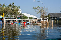 Flood factory in Nava Nakorn Industrial thailand Stock Photography