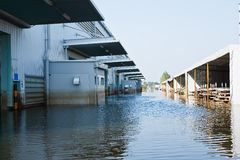 Flood factory in Nava Nakorn Industrial thailand Royalty Free Stock Photography