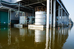 Flood factory in Nava Nakorn Industrial thailand Stock Photos