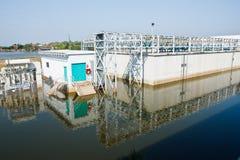 Flood factory in Nava Nakorn Industrial thailand Stock Photo