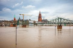Flood in Frankfurt Royalty Free Stock Image