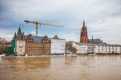 Flood in Frankfurt Royalty Free Stock Photos
