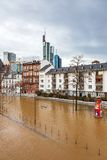 Flood in Frankfurt Royalty Free Stock Photos