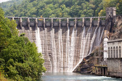 Flood gates of a Dam Stock Photos
