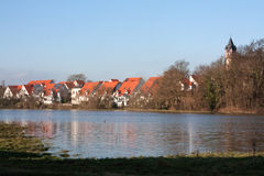 Flood in Germany Stock Photography