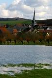 Flood in Germany #2. Flood in Coburg, Bavaria, Germany Royalty Free Stock Image