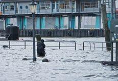Flood in Hamburg Royalty Free Stock Photos
