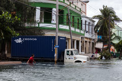 Flood in Havana, Cuba Royalty Free Stock Image