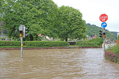 Flood in Heidelberg Royalty Free Stock Photography