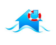 Flood icon Royalty Free Stock Photo