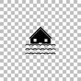 Flood icon flat vector illustration
