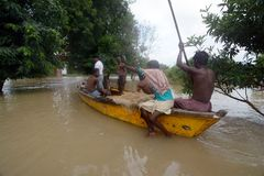 Flood in India Stock Photo