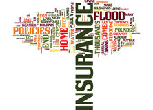 Flood Insurance Could Save You Thousands Text Background  Word Cloud Concept Royalty Free Stock Image
