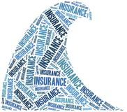 Flood insurance. Word cloud illustration. Royalty Free Stock Photography