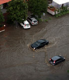 The flood inundated a street in Odessa Stock Images