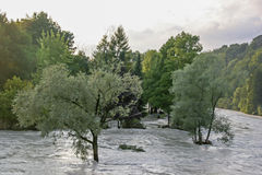 Flood in the Isarwinkel Royalty Free Stock Photos