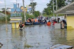 Flood in Karawang Stock Images