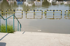 The flood from lake. At Ada Ciganlija, Belgrade, Serbia Royalty Free Stock Image