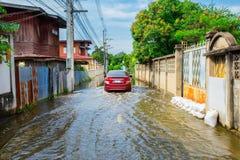 Flood, Lake, Rain, Torrential Rain, Water stock image