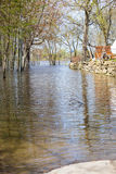 Flood in Laval West, Quebec royalty free stock images