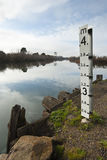 Flood level gauge Royalty Free Stock Images