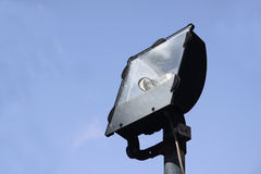 Flood light. An unlit flood light used to illuminate a large area Royalty Free Stock Photo