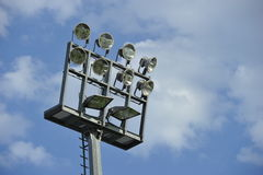 Flood Light. In a sport stadium against the blue sky Stock Images